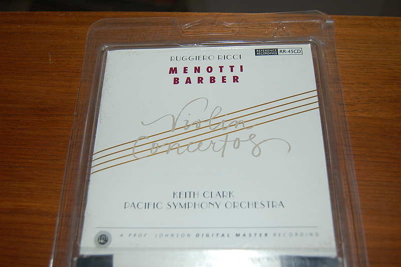 Reference Recordings RR-45 Menotti / Barber