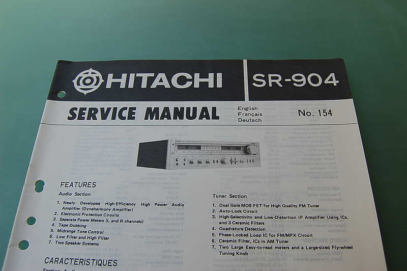 Hitachi SR-904 Service Manual