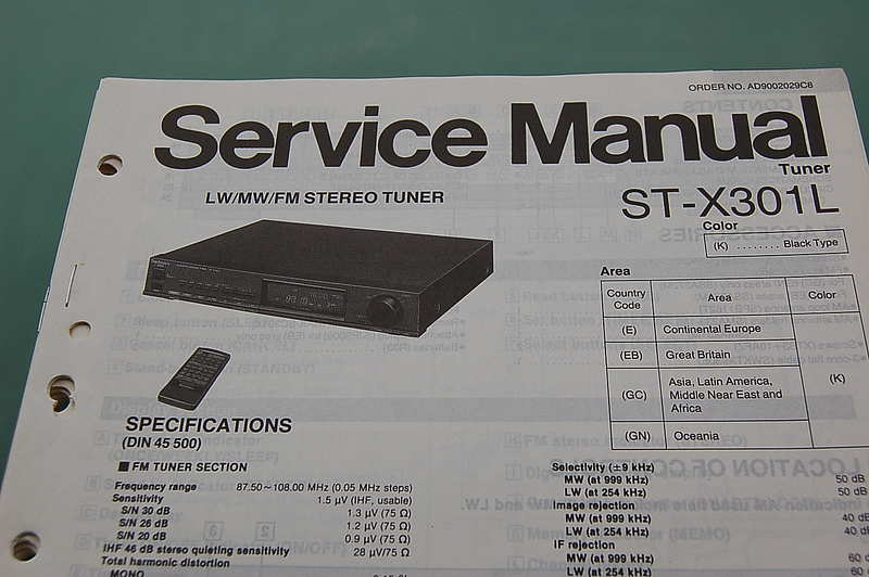 Technics ST-X 301 L Service Manual
