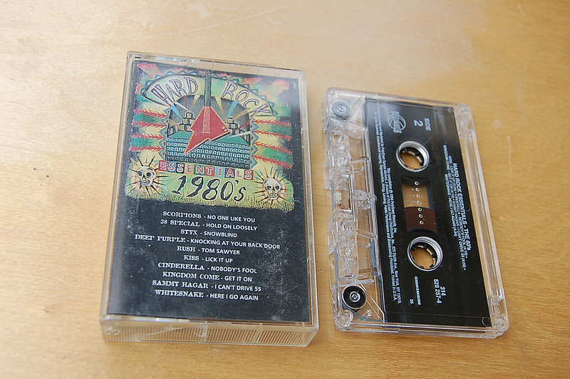 "Hard Rock Essentials "" The 80's "" original Capitol MC Cassette"