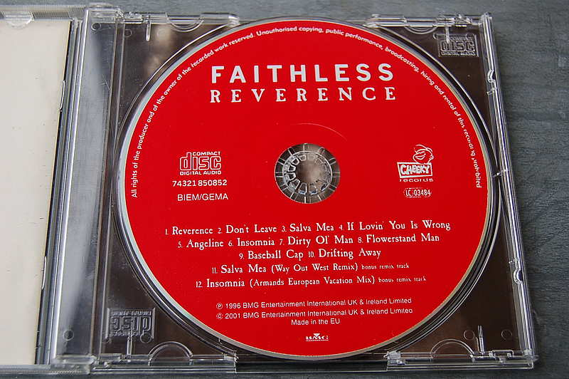 "Faithless "" Reverance "" CD"